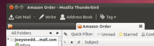 Mozilla Thunderbird en Ubuntu 11.10